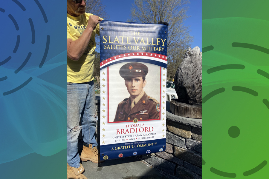 'Giving honor to whom honor is due': Banners to salute military men, women