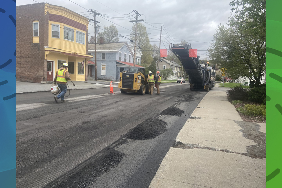 Repaving delay ends on Monday