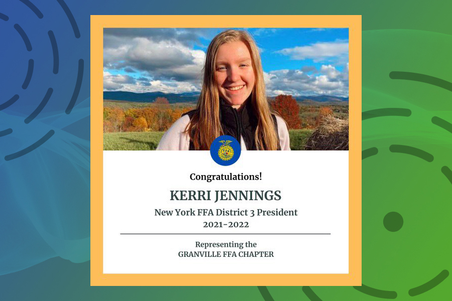Kerri Jennings is district FFA president