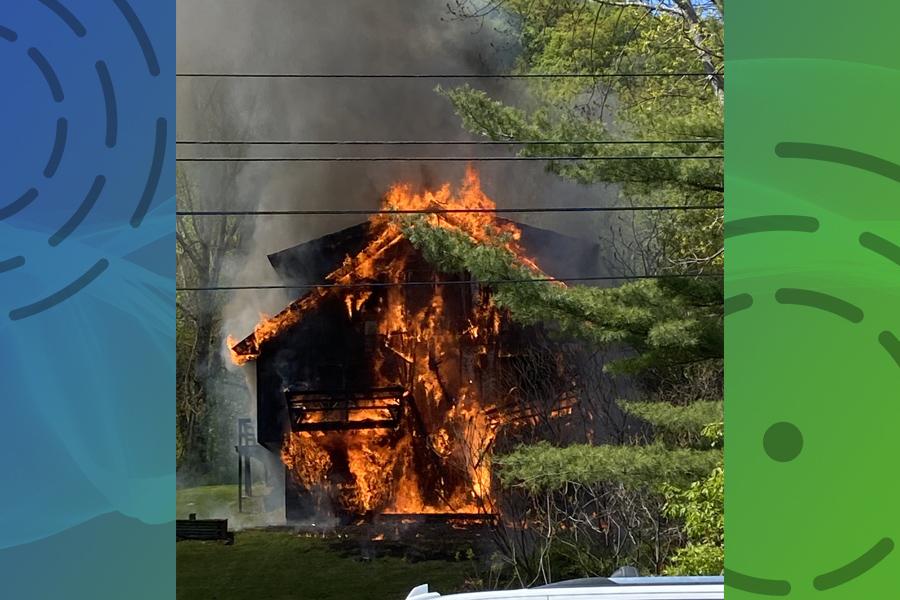 Fire damages Granville apartments