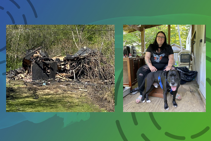 Home lost to fire, couple starts anew