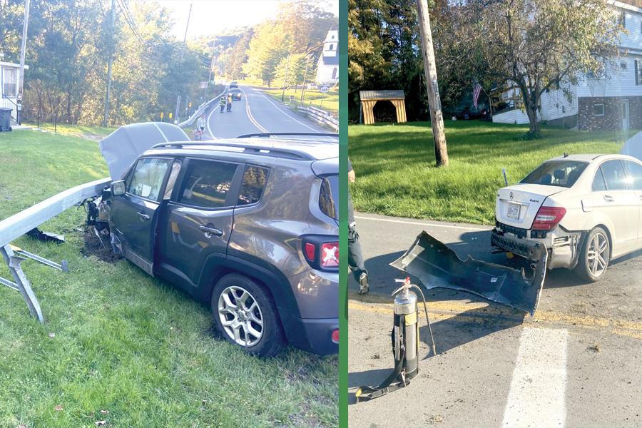 Granville woman hurt in car crash